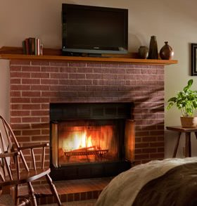 The Dogwood Room fireplace