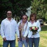 elvis lookalike and newlyweds