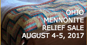 Photo of a quilt with title: Ohio Mennonite Quilt Sale.
