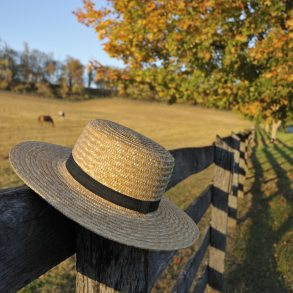 Amish Straw Hat in Ohio Fall