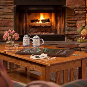 White Oak Inn Fireplace and Games