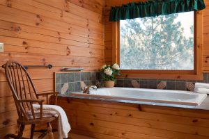 View of whirlpool in the White Oak Cottage