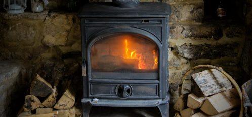 Cotswolds cottage log burner