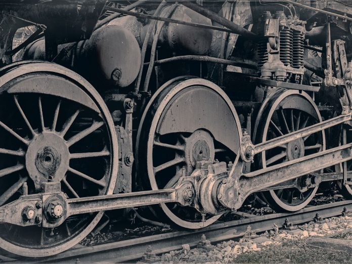 steam locomotive from the age-of-steam-roundhouse-museum
